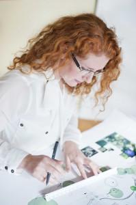 Anna Skjonsberg ritar